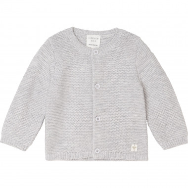 Cotton and wool knit cardigan CARREMENT BEAU for BOY