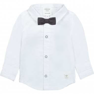 Cotton shirt with bow tie CARREMENT BEAU for BOY