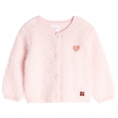 Embroidered knit cardigan CARREMENT BEAU for GIRL