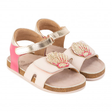 Hook-and-loop shell sandals CARREMENT BEAU for GIRL