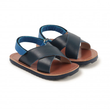 Leather hook-and-loop sandals CARREMENT BEAU for BOY