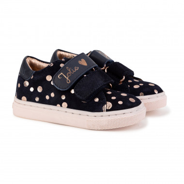 Hook-and-loop leather trainers CARREMENT BEAU for GIRL