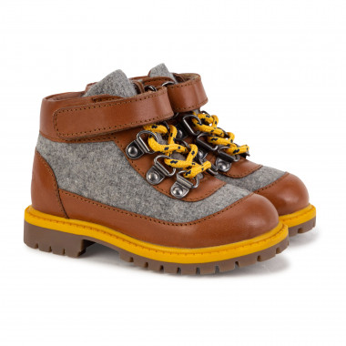 Two-tone leather boots CARREMENT BEAU for BOY