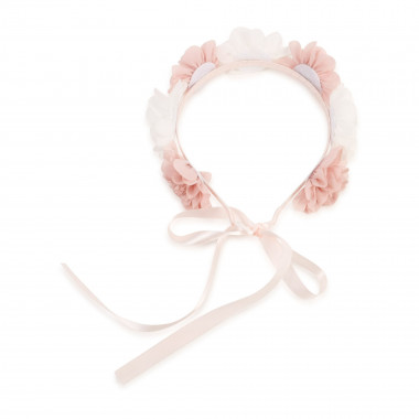 Flower crown with ribbon CARREMENT BEAU for GIRL