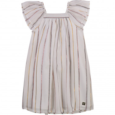 Striped cotton voile dress CARREMENT BEAU for GIRL