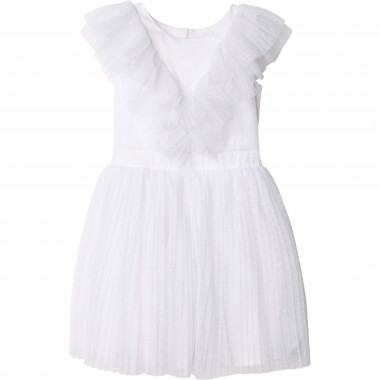 Satin and tulle dress CARREMENT BEAU for GIRL