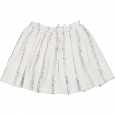 Striped silver skirt CARREMENT BEAU for GIRL