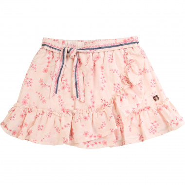 Cotton satin printed skirt CARREMENT BEAU for GIRL