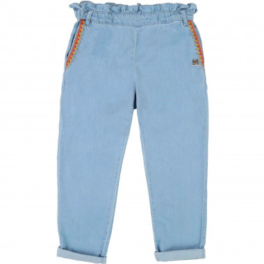 Embroidered paper bag jeans CARREMENT BEAU for GIRL