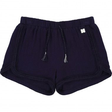 Plain shorts with braid CARREMENT BEAU for GIRL
