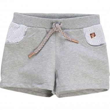 Embroidered fleece shorts CARREMENT BEAU for GIRL