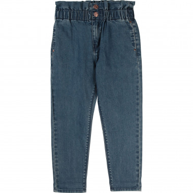 Pleated elasticated jeans CARREMENT BEAU for GIRL
