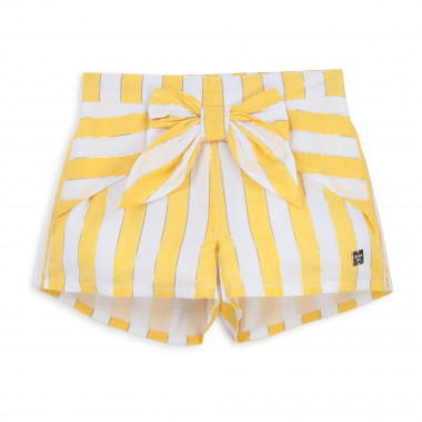 Striped shorts with bow CARREMENT BEAU for GIRL