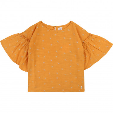 Blouse with frilled sleeves CARREMENT BEAU for GIRL