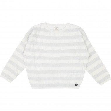 Striped knitted jumper CARREMENT BEAU for GIRL