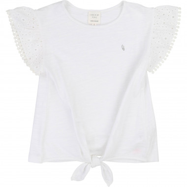 T-shirt with tie bottom CARREMENT BEAU for GIRL