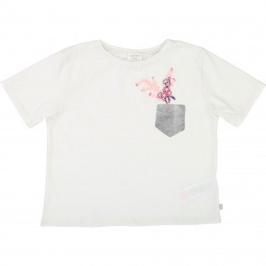 Round-neck printed T-shirt CARREMENT BEAU for GIRL