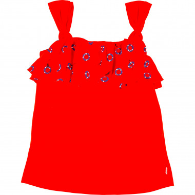 Vest top with printed frill CARREMENT BEAU for GIRL