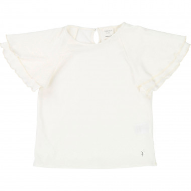 Short-sleeved frilled T-shirt CARREMENT BEAU for GIRL