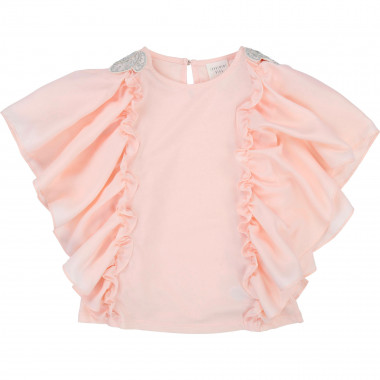 Formal frilled T-shirt CARREMENT BEAU for GIRL