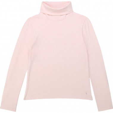 Cotton jersey polo-neck jumper CARREMENT BEAU for GIRL