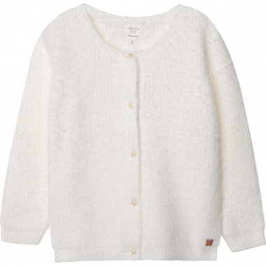 Fluffy knitted cardigan CARREMENT BEAU for GIRL