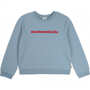Fleece message sweatshirt CARREMENT BEAU for GIRL