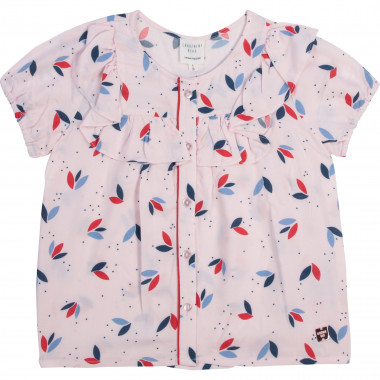 Printed buttoned blouse CARREMENT BEAU for GIRL