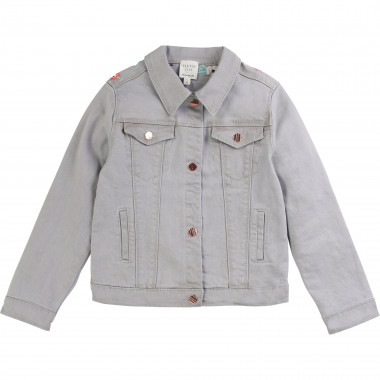 Embroidered denim jacket CARREMENT BEAU for GIRL