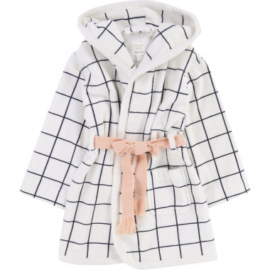 Hooded velour terry bath robe CARREMENT BEAU for GIRL