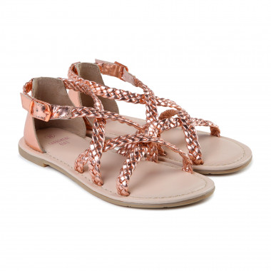 Sandals with braided straps CARREMENT BEAU for GIRL