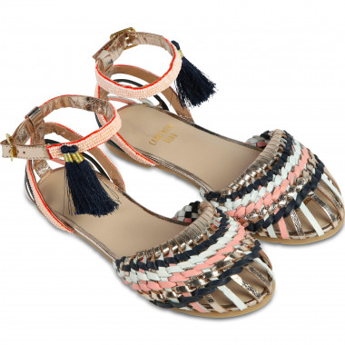 Sandals with multicolour strap CARREMENT BEAU for GIRL