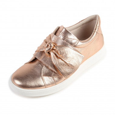 Metallic leather trainers CARREMENT BEAU for GIRL