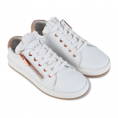 Low-top leather plimsolls  for