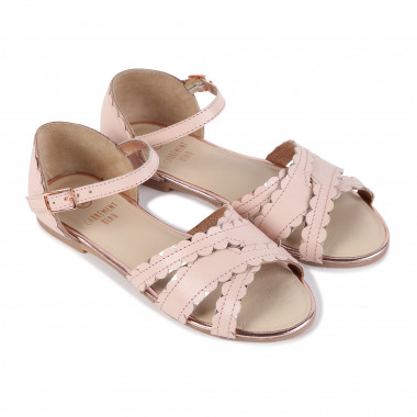 Serrated leather sandals  for