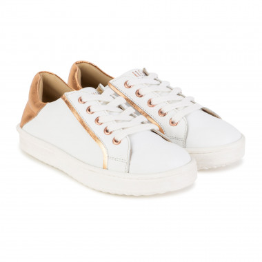 Laced leather trainers CARREMENT BEAU for GIRL