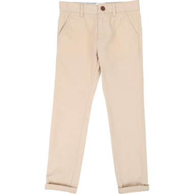 Plain 3 pocket chinos CARREMENT BEAU for BOY