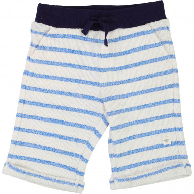 Striped fleece Bermuda shorts CARREMENT BEAU for BOY