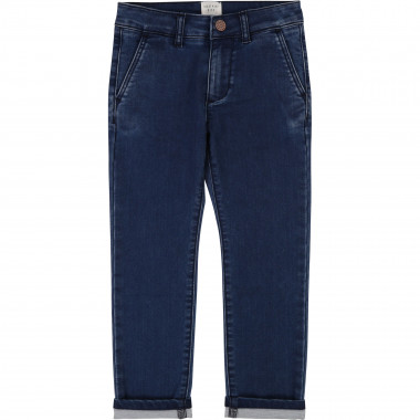 Stretch denim chinos CARREMENT BEAU for BOY