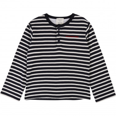 Cotton sailor-stripe T-shirt CARREMENT BEAU for BOY