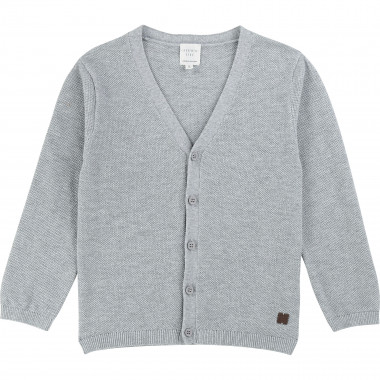 Cotton wool V-neck cardigan CARREMENT BEAU for BOY