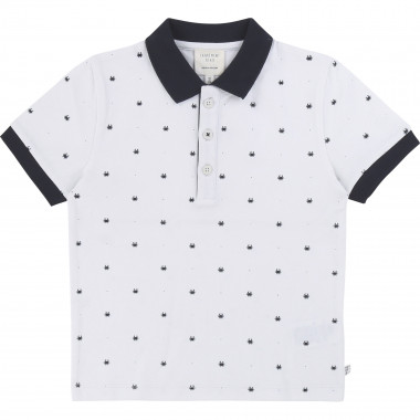 Printed cotton piqué polo CARREMENT BEAU for BOY