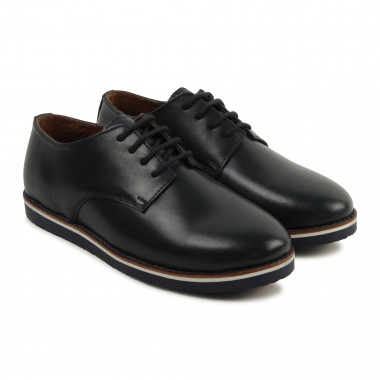 Leather laced Derby shoes CARREMENT BEAU for BOY