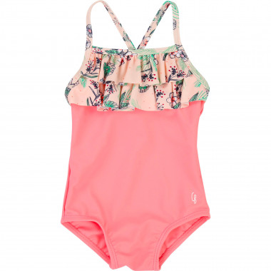 One-piece swimsuit with frill CARREMENT BEAU for GIRL