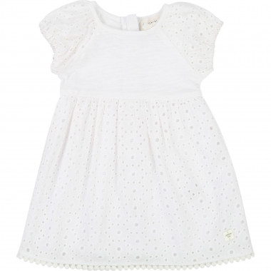 Embroidered cotton dress CARREMENT BEAU for GIRL