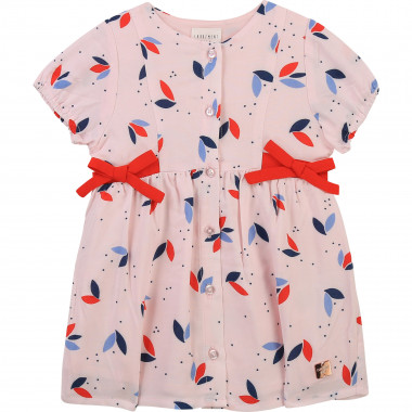 Printed dress with bows CARREMENT BEAU for GIRL