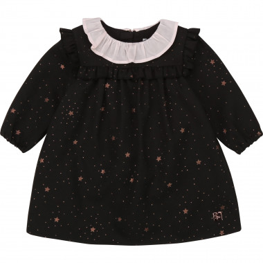 Star-print flannel dress CARREMENT BEAU for GIRL