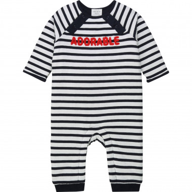 Striped organic cotton onesie CARREMENT BEAU for BOY