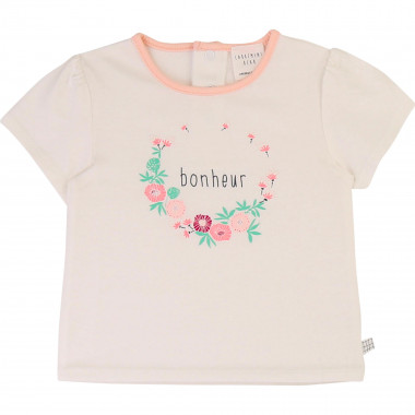 Round-necked printed T-shirt CARREMENT BEAU for GIRL
