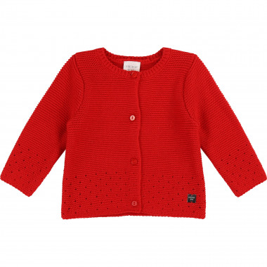 Openwork knit cardigan CARREMENT BEAU for GIRL
